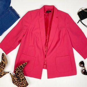 Talbots Bright Pink Open Front Blazer Jacket 16W
